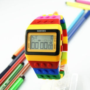 RAINBOW LEGO WATCH  http://www.ringsandtings.com/collections/watches#