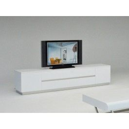 AK588-230 Armani Xavira White Crocodile TV Entertainment Center - 895.0000
