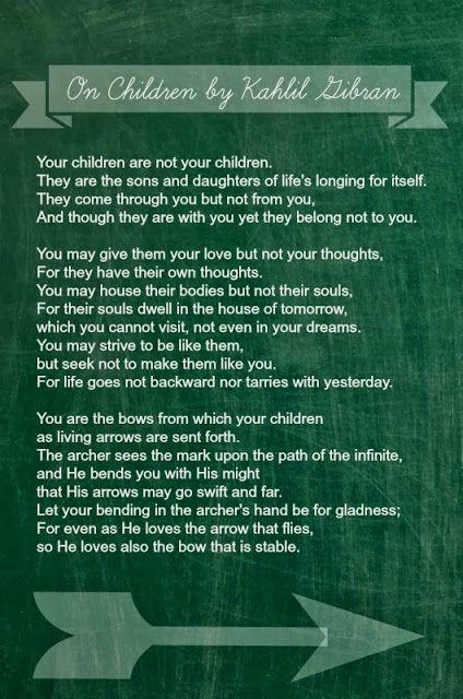 On Children by Kahlil Gibran / a poem