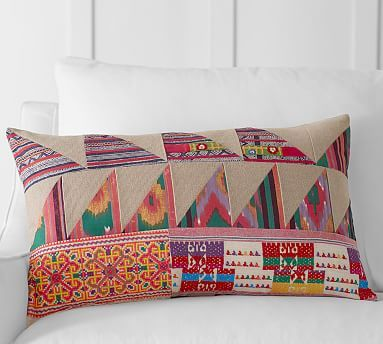 Pauline Boyd Patchwork Hatchling Lumbar Pillow Cover #potterybarn