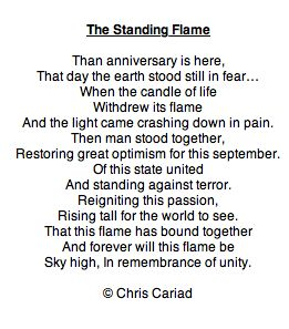 the standing flame c chris cariad poem poetry writing