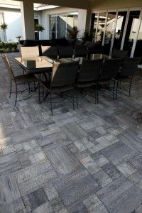 Modern residential design - combination of urban pavers