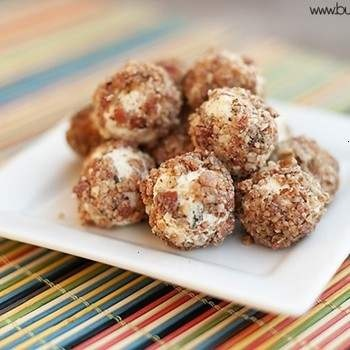 goat cheese bacon balls...sounds so good yet so bad for you.