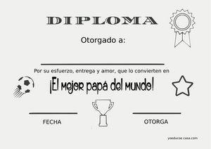 Diploma para papá y más imprimibles para el día del padre – #del #dia #diplom…