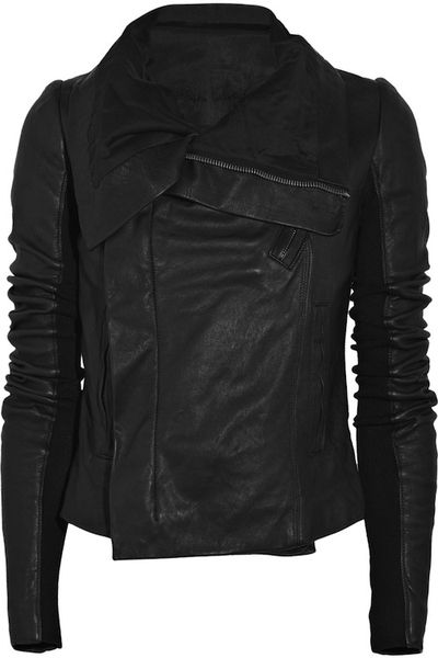 My forever love - the liquid black allure of a Rick Owens leather jacket.
