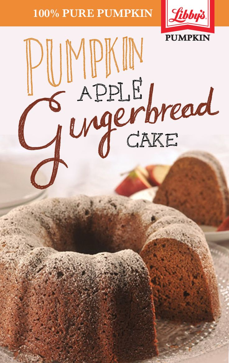 BAKING TIP: Top this delicious pumpkin apple gingerbread cake with a hard sauce by mixing a stick of butter with a teaspoon of vanilla extract and 2 cups of sifted powdered sugar. For a boost of flavor, try sprinkling in a little extra pumpkin spice.
