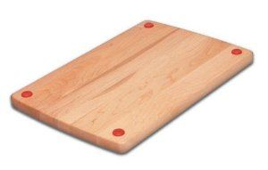 Grand Epicure 7C8594 10 by 15 by 3/4-Inch Safe Side Wood Utility Board by Snow River Wood. $22.95. Northern Hardwood. 10-inch by 15-inch by 3/4-inch. Color coded to avoid food cross contamination. Made in USA. Safe Side is a new concept in cutting boards. It makes food prep safer with color coded buttons that help you to avoid cross contamination of food. Use green side for fruits and vegetables and red side for meats, poultry and seafood. With a traditional cutting board wood s...