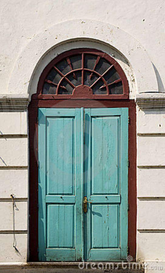 old dutch doors | Traditional Dutch colonial door in an old VOC warehouse in Jakarta ...