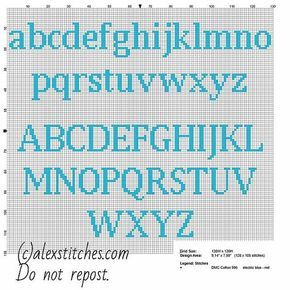 Cross stitch alphabet uppercase and lowercase letters for names with Squirtle Pokemon free download