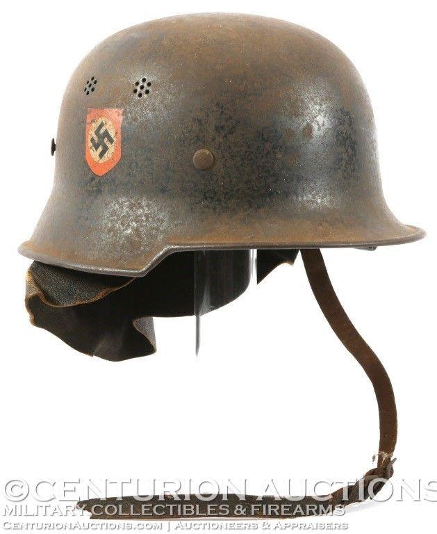 2e33b9e87 WWII GERMAN FIRE POLICE DD M34 HELMET | Headgear | Military ...