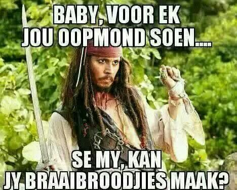Braai net in Afrikaans
