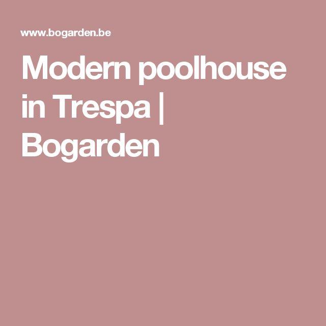 Modern poolhouse in Trespa | Bogarden