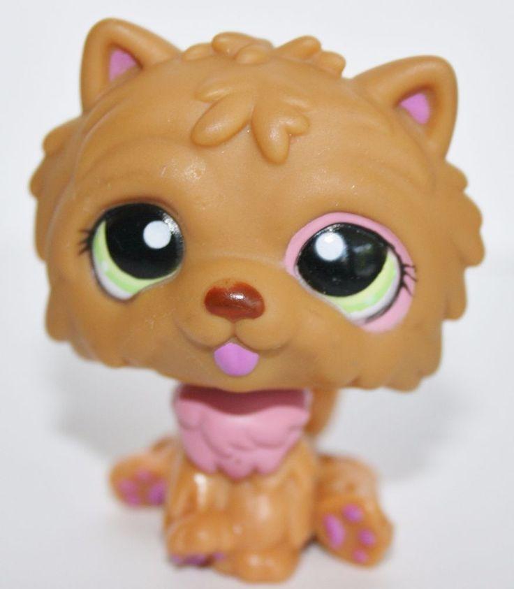 Littlest Pet Shop 1157 Brown & Pink Chow Chow Puppy Dog