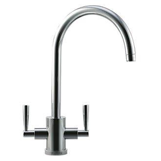 Order online at Screwfix.com. Brushed steel. Modern, sink-mounted mono mixer tap…