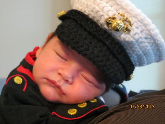 Marine baby USMC dress blues Marine Corps hat you pick the size and colors Hobbyist License 11324 on Etsy, $25.00