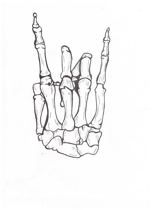 cool idea for a tattoo - rocker skeleton hand