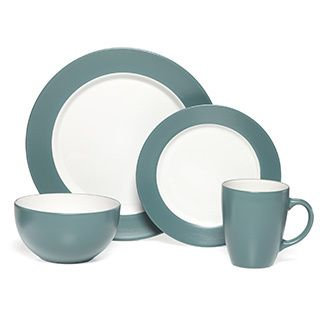 pfaltzgraff everyday aria teal 16piece dinnerware set overstock shopping great deals on