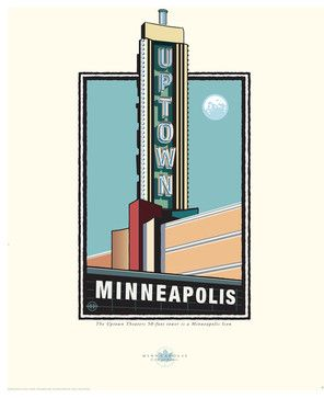 "Landmark Series, MN ""Uptown Theater, Minneapolis"" by Mark Herman, 8x10 craftsman-prints-and-posters"