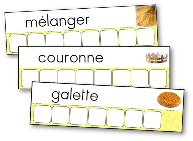 Atelier des mots de la recette de la galette des rois
