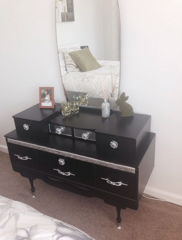 My $10.00 dressing table. Wish I had a photo of the before, just imagine it timber :)