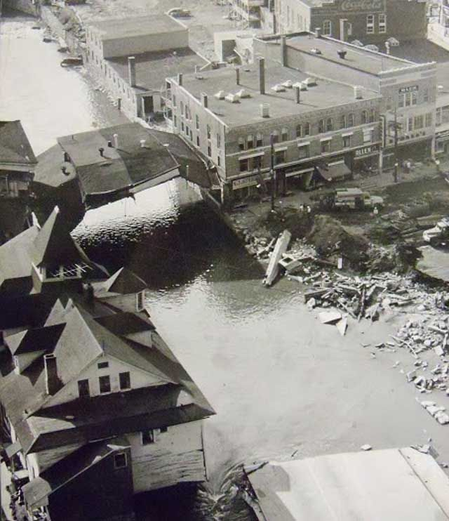 A Pictorial History Of Torringtons Central Hotel Before And After The 1955 Flood Destroyed It