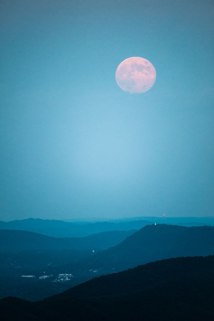 Blue Moon Over Mill Mountain