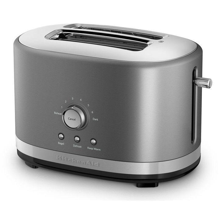Kitchenaid 2slice contour silver wide slot toaster with