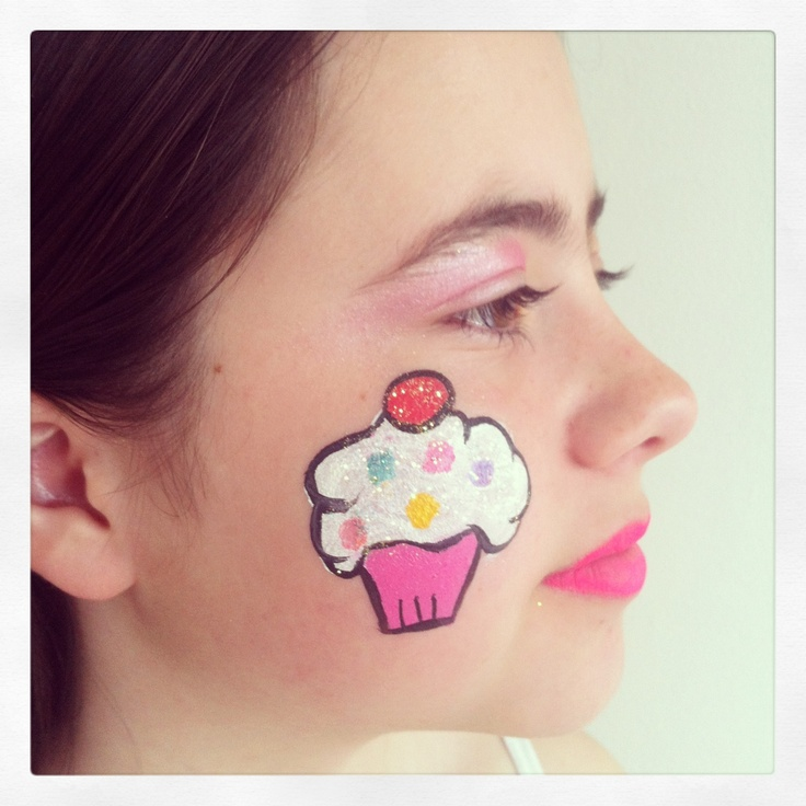 Cup cake face painting ideas