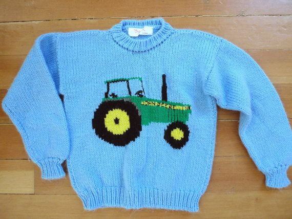 Knitting Pattern With Tractor Motif : 17 Best images about ARVIDs on Pinterest Tow truck, John deere and Cars