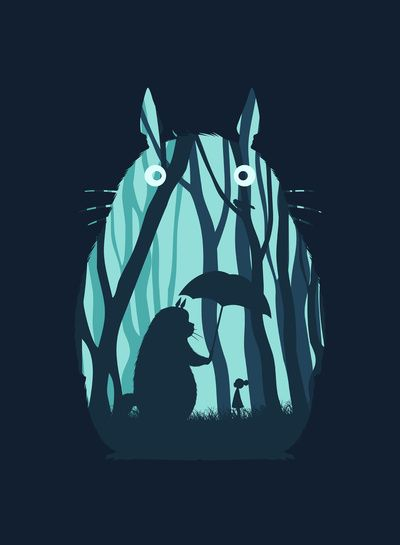 My Neighbor Totoro Art Print. This will go in a nursery!!                                                                                                                                                      More