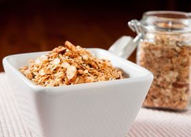 This granola is a great pre-or post-workout snack with a great balance of carbs…
