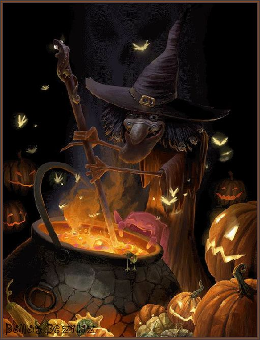 WITCHES BREW HALLOWEEN GIF
