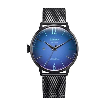 Reloj señora y caballero WELDER Moody. Negro y azul. Fecha. WRC408