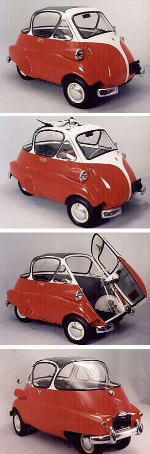 1959 Romi-Isetta - built in Brazil and equipped with BMW engines. Only about 3,000 units were manufactured from 1956 to 1961.: