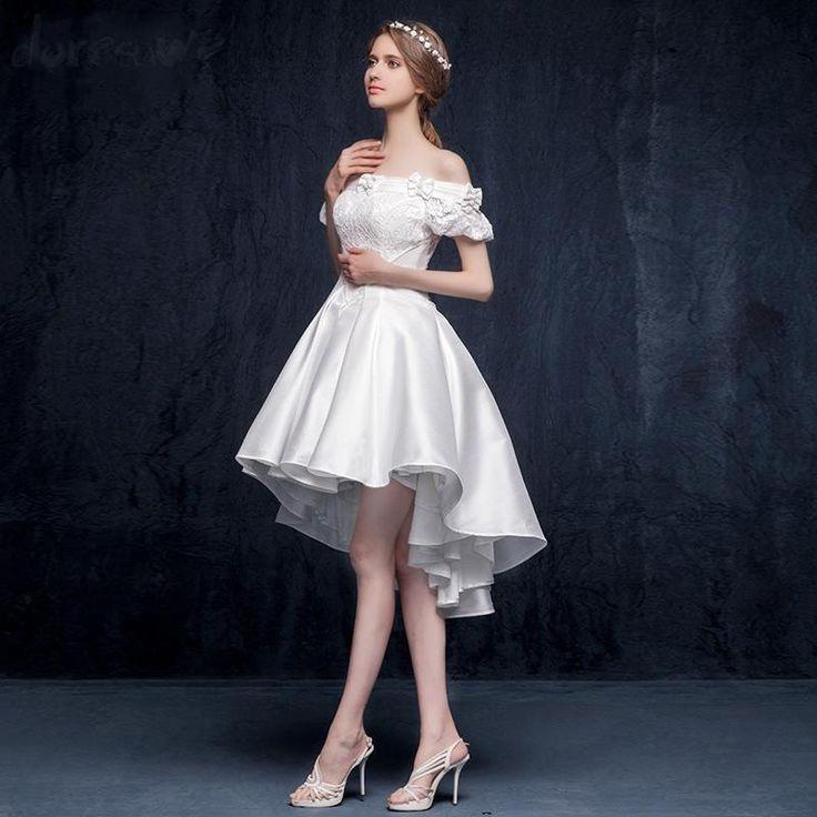Doresuwe.com SUPPLIES オフショルダーデザインの不規則の綺麗目ドレス パーティードレス ダンスドレス 二次会ドレス (4)