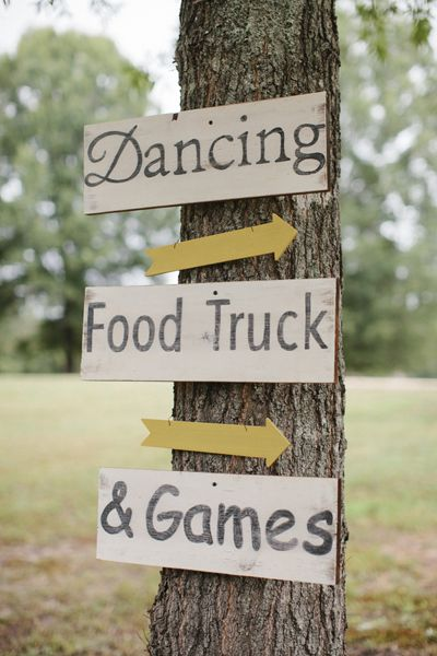 rustic signage | Leslie Hollingsworth #wedding