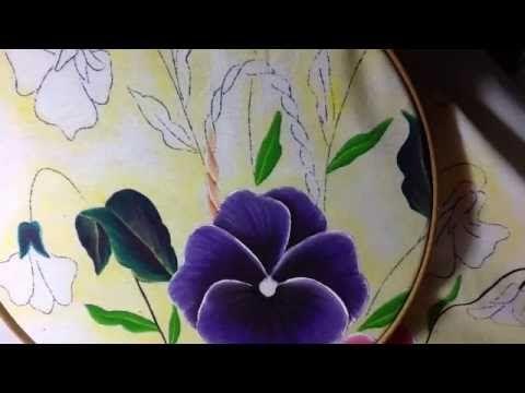 Pintura en tela canasto de pensamientos # 4 con cony