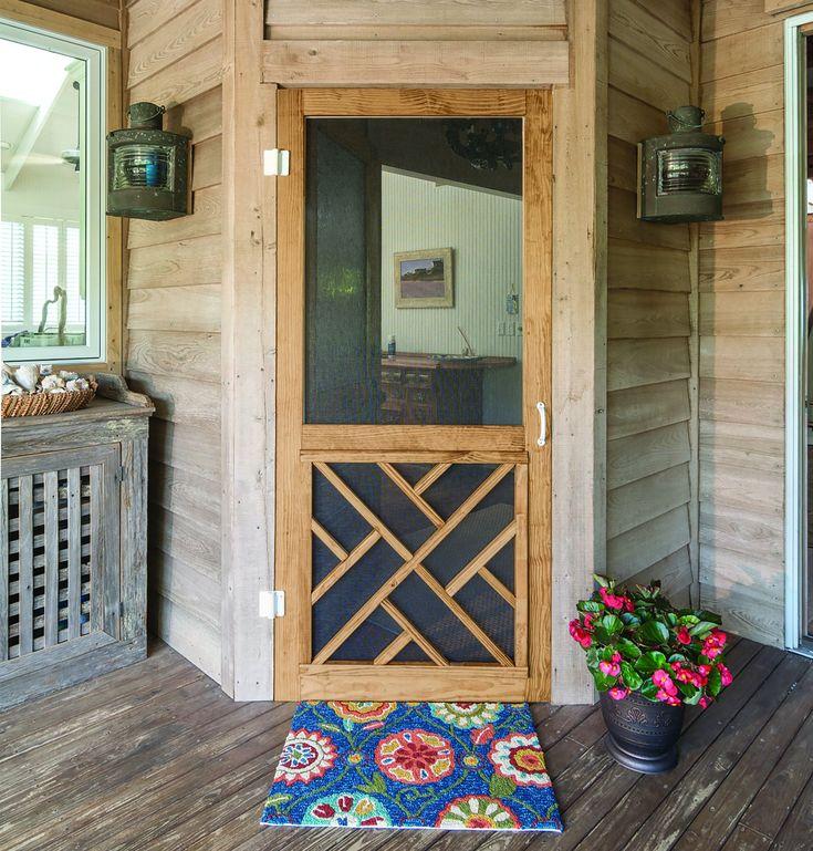 Chippendale Screen Door Wood Screen Door Wooden Screen