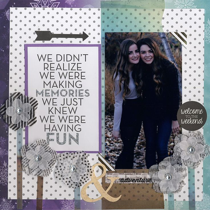 Having Fun - Scrapbook.com - Made with the January Scrapbook.com kit club kit Winter Wishes.