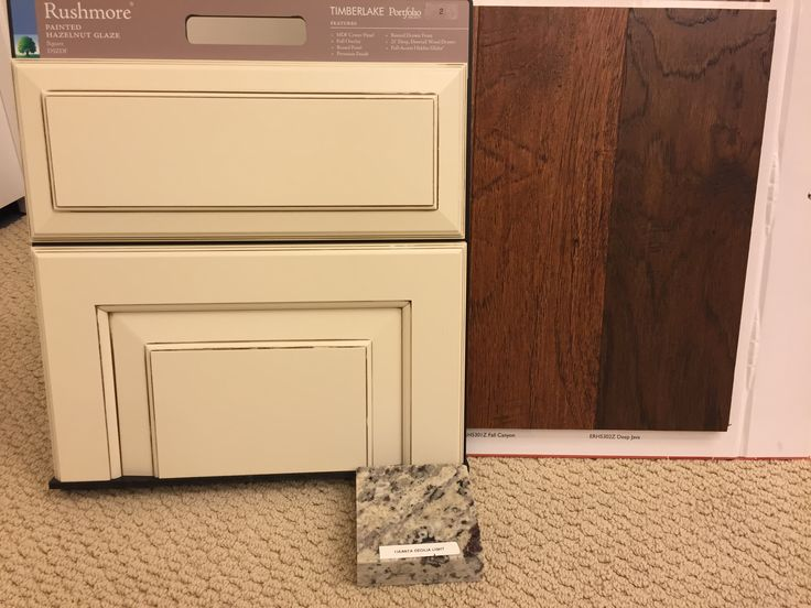 Rushmore Cabinets With Painted Hazelnut Glaze In The