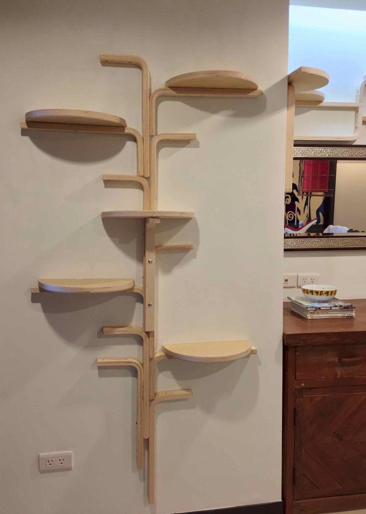 Cat tree using 'Frosta' stools form IKEA