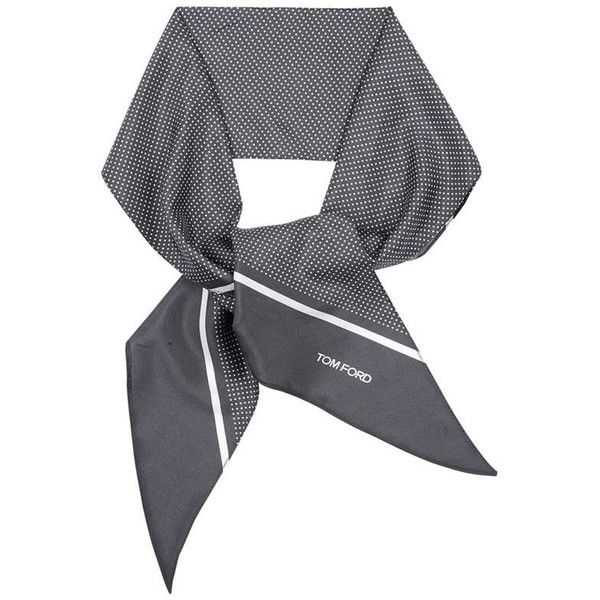 TOM FORD Micro Dot Silk Scarf ($300) ❤ liked on Polyvore featuring men's fashion, men's accessories, men's scarves and mens silk scarves