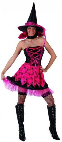 Halloweenheksenkostuum met spinnen voor vrouwen
