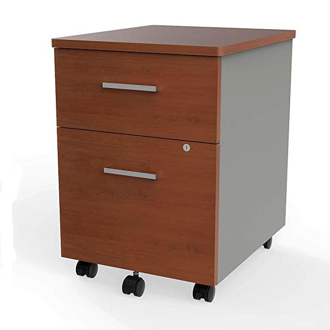 Linea Italia Locking 2 Drawer Metal File Pedestal Cherry Office File Cabinet On Wheels Under Desk 24 Hig Filing Cabinet Office File Cabinets Symple Stuff