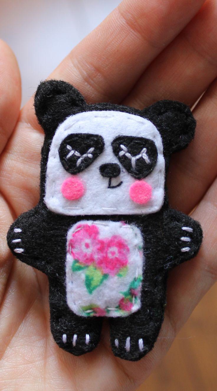 felt panda, wykonanie Kaliniaki, https://www.facebook.com/kaliniaki/