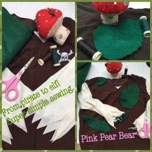 Simple Elf costume tutorial ⋆ Pink Pear Bear