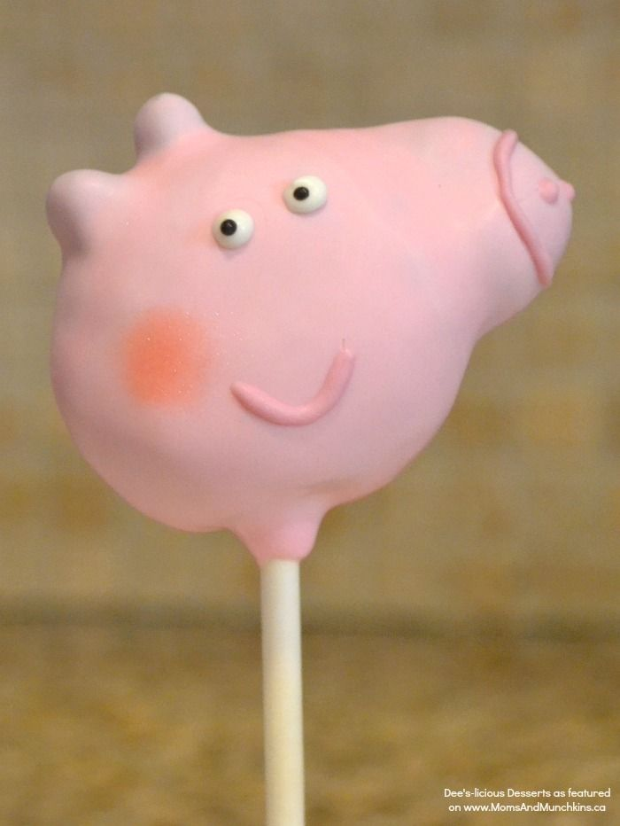 Peppa Pig Cake Pops - an adorable cake pop tutorial by Dee's-licious Desserts!