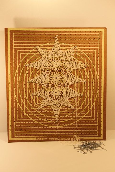 Doily Stretcher Collectible Halan Doily by ClockworkRummage, $35.00