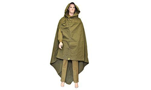Made in Ussr Original Soviet Russian Army WWII Type Soldier Field Canvas Cloak Tent Raincoat Poncho Plasch-palatka with Leather Carrying Strap by S.U.R.& R.Auto Parts. Made in Ussr Original Soviet Russian Army WWII Type Soldier Field Canvas Cloak Tent Raincoat Poncho Plasch-palatka with Leather Carrying Strap.