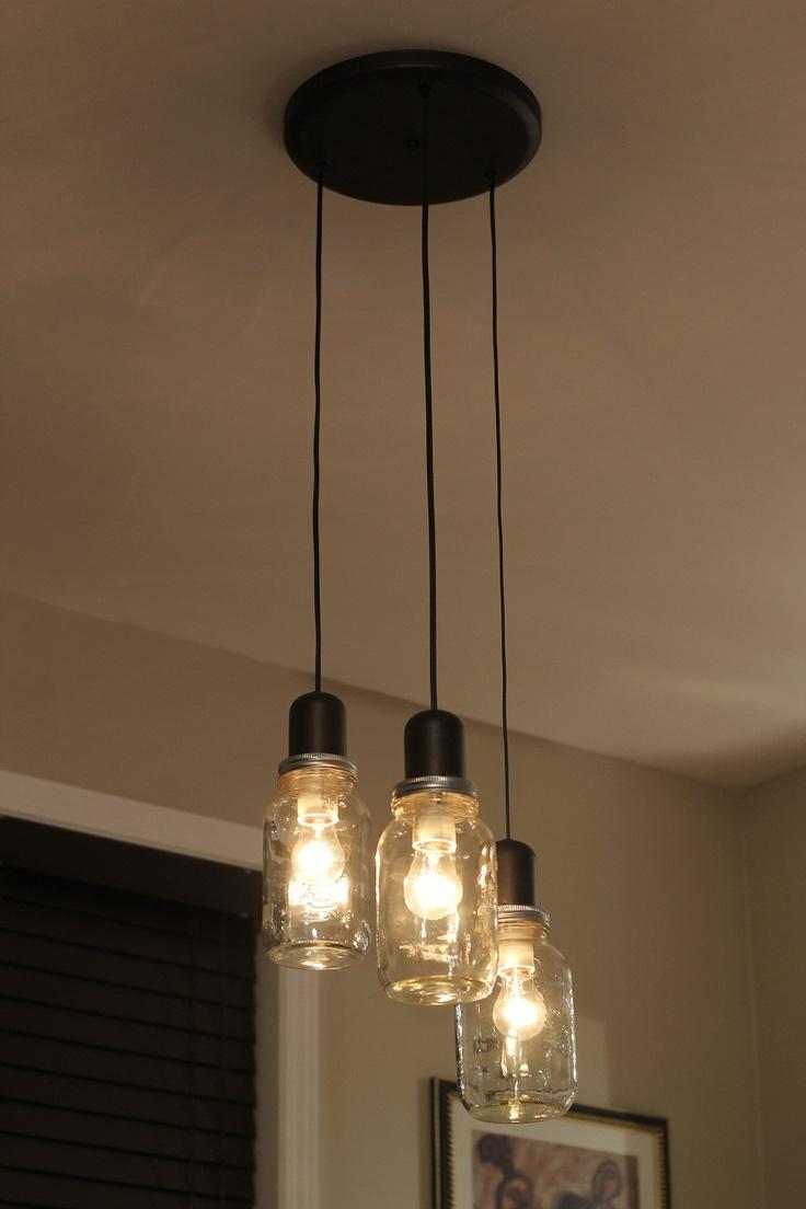 Mason Jar Light Chandelier Pendant. #LuisaBrimble